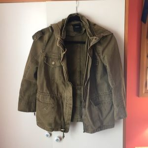 Hooded Green army jacket
